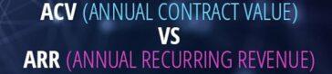 ¿Qué es ACV y cuál es la diferencia con el ARR?